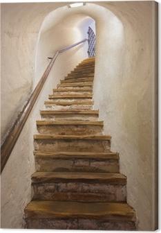 Leinwandbild Treppen im Schloss Kufstein - Österreich