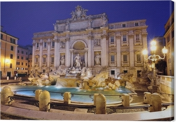 Leinwandbild Trevi-Brunnen, Rom