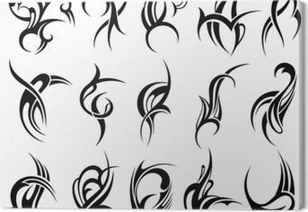 Leinwandbild Tribal Tattoo Design-Element