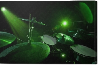 Leinwandbild Trommeln in der grünes Licht