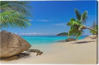 Leinwandbild Tropische Strandlandschaft in Thailand