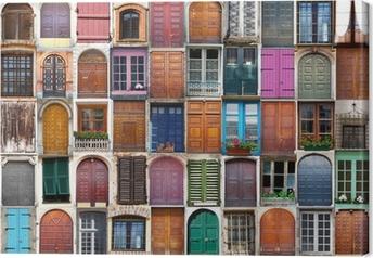 Leinwandbild Türen und Fenster Collage