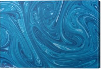Leinwandbild Türkis Aquarell Marmor Hintergrund
