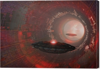 Leinwandbild Ufo-Tunnel