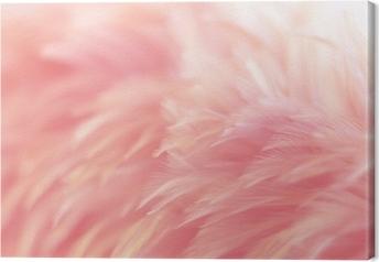 Leinwandbild Unschärfe Vogel Hühner Feder Textur für Hintergrund, Fantasy, abstrakt, weiche Farbe des Kunstdesigns.