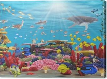 Leinwandbild Unterwasser-Paradies