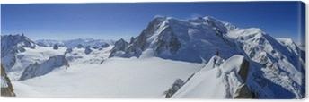 Leinwandbild Vallee Blanche Mont Blanc und Aiguille du Midi aus gesehen