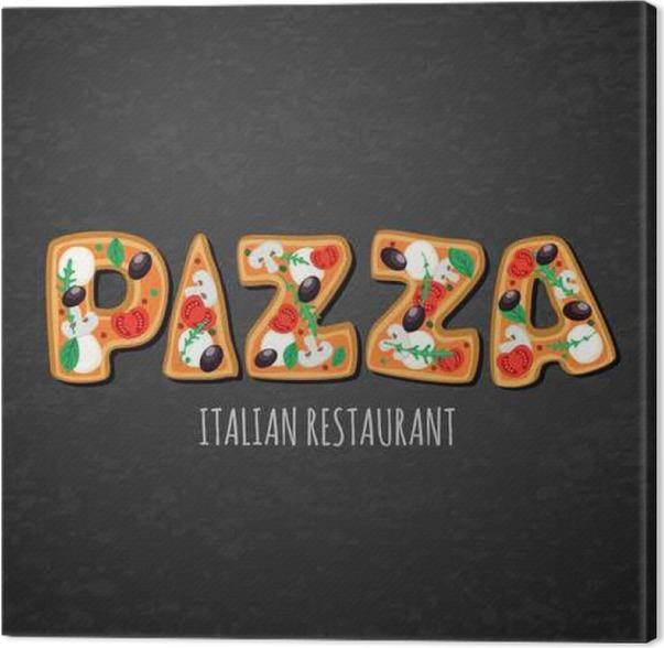 Leinwandbild Vector Design-Vorlage für italienisches Restaurant-Menü ...