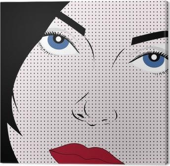 Leinwandbild Vector Girl in Pop Art Stil