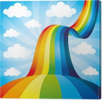 Leinwandbild Vector Hintergrund. Regenbogen.