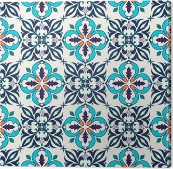Leinwandbild Vector nahtlose Textur. Schöne farbige Muster für Design und Mode mit dekorativen Elementen