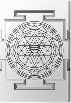 Leinwandbild Vector Shri Yantra