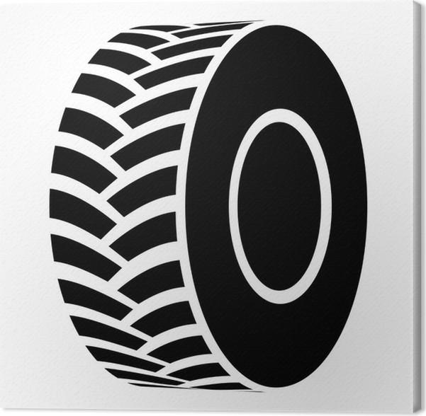 Leinwandbild Vektor schwarze Traktorreifen Symbol • Pixers® - Wir ...