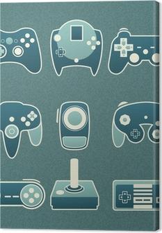 Leinwandbild Vektor-Set: Retro-Videospiel-Fernbedienungen