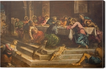 Leinwandbild Venedig - Abendmahl Christi von Jacopo Robusti - Tintoretto