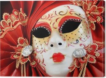 Leinwandbild Venezianischen Karneval Maske
