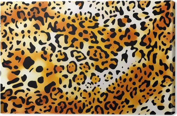 Leinwandbild Verrückt Leopard Tapete • Pixers® - Wir leben, um zu ...