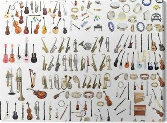 Leinwandbild Verschiedene Musikinstrumente