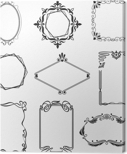 leinwandbild verschiedene sch ne rahmen im stil jugendstil pixers wir leben um zu ver ndern. Black Bedroom Furniture Sets. Home Design Ideas
