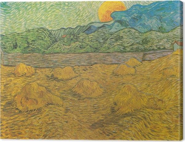 Leinwandbild Vincent van Gogh - Abendlandschaft bei Mondaufgang - Reproductions