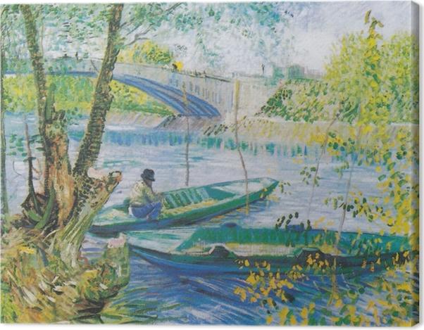 Leinwandbild Vincent van Gogh - Angeln im Frühling - Reproductions