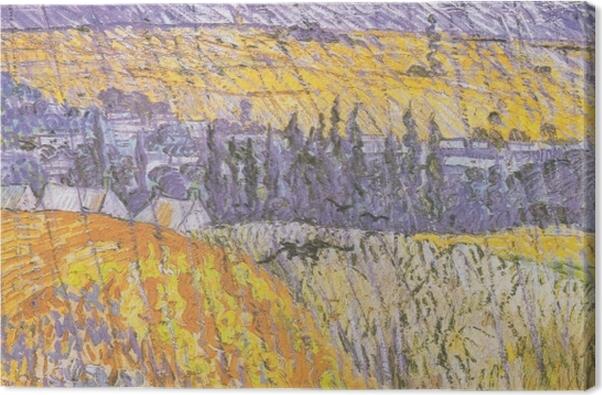 Leinwandbild Vincent van Gogh - Auvers im Regen - Reproductions