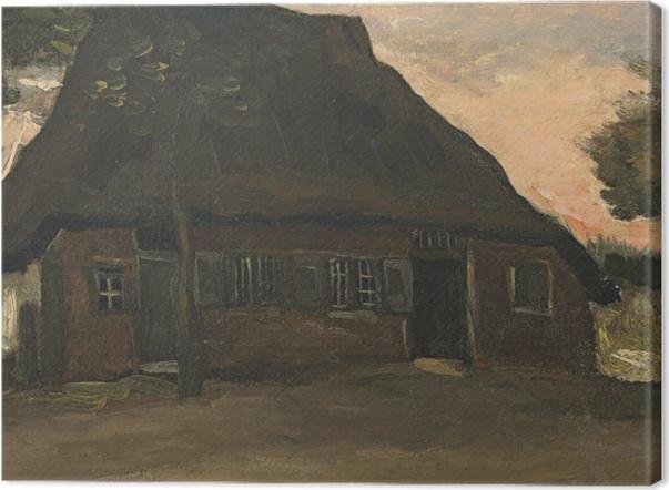 Leinwandbild Vincent van Gogh - Bauernhaus in Nuenen - Reproductions