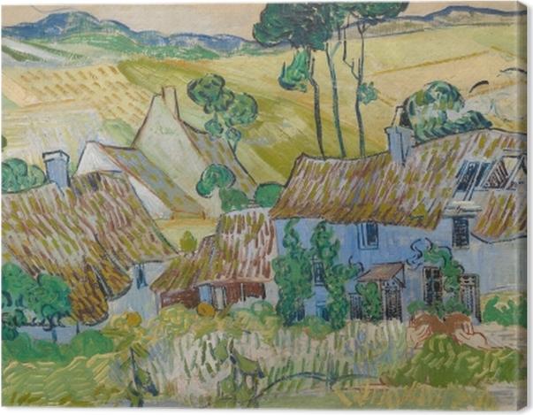Leinwandbild Vincent van Gogh - Bauernhöfe bei Auvers - Reproductions