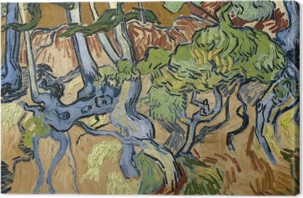 Leinwandbild Vincent van Gogh - Baumwurzeln - Reproductions