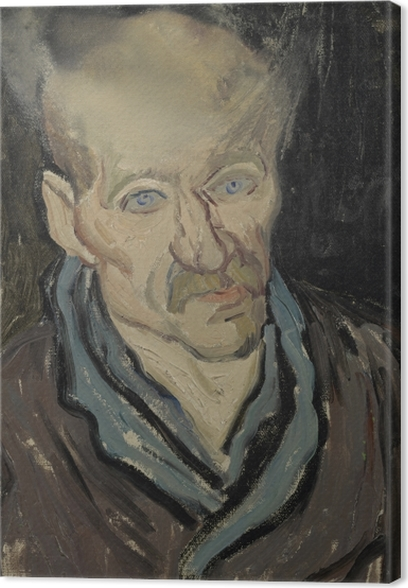Leinwandbild Vincent van Gogh - Bildnis eines Patienten im Hospital Saint-Paul - Reproductions