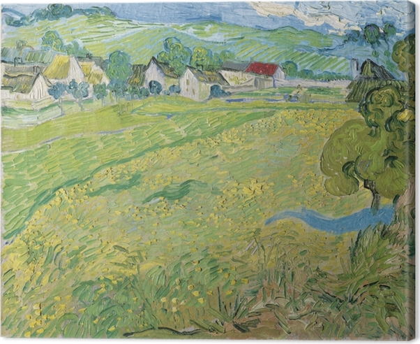 Leinwandbild Vincent van Gogh - Blick auf Auvers in der Nähe von Les Vessenots - Reproductions