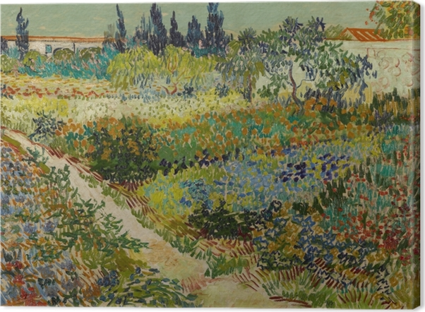 Leinwandbild Vincent van Gogh - Blühender Garten mit Weg - Reproductions