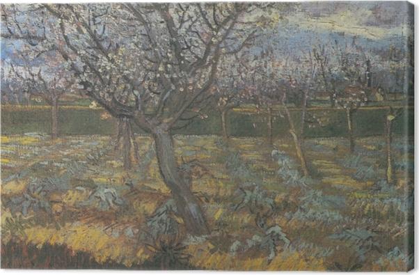 Leinwandbild Vincent van Gogh - Blühender Obstgarten mit Aprikosenbäumen - Reproductions