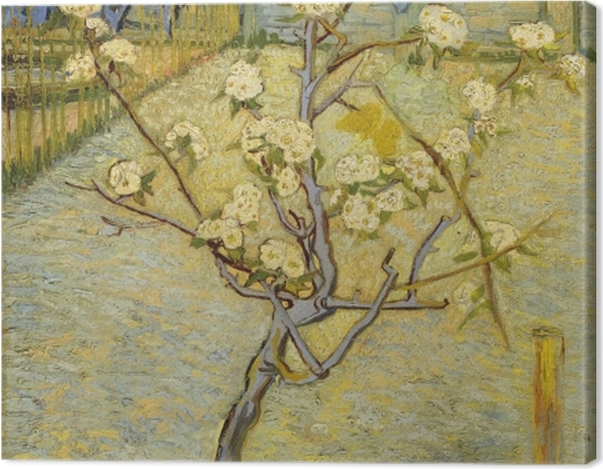 Leinwandbild Vincent van Gogh - Blühender Pfirsichbaum - Reproductions