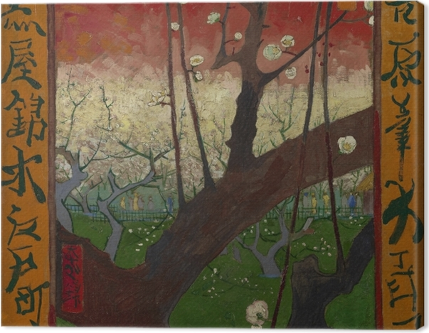 Leinwandbild Vincent van Gogh - Blühender Pflaumenbaum - Reproductions