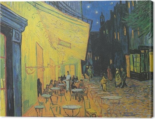 Leinwandbild Vincent van Gogh - Caféterrasse am Abend - Reproductions
