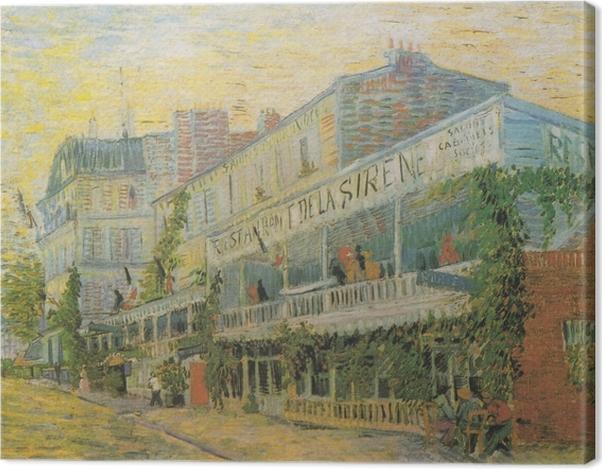 Leinwandbild Vincent van Gogh - Das Restaurant De la Siréne in Asniéres - Reproductions