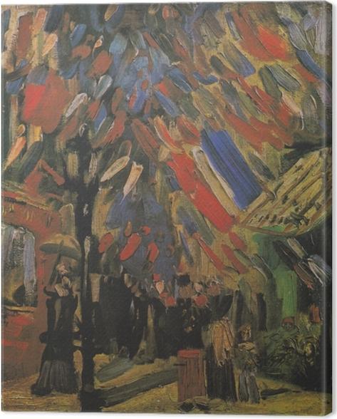 Leinwandbild Vincent van Gogh - Der 14. Juli - Reproductions