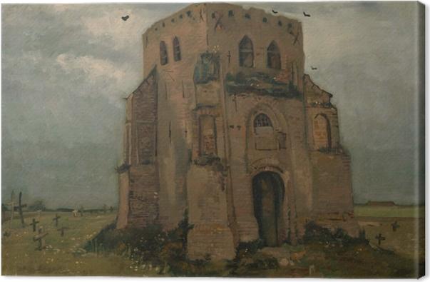 Leinwandbild Vincent van Gogh - Der alte Kirchturm bei Nuenen - Reproductions