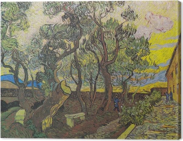 Leinwandbild Vincent van Gogh - Der Garten des Hospitals Saint-Paul - Reproductions