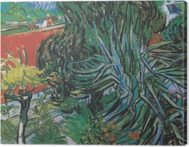 Leinwandbild Vincent van Gogh - Der Garten von Dr. Gachet in Auvers - Reproductions