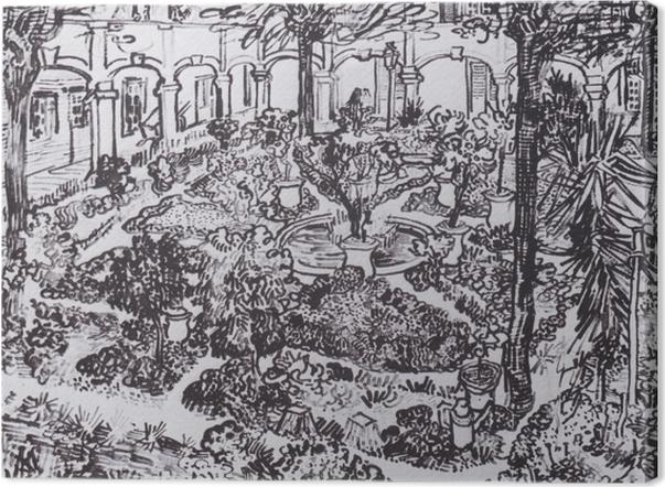 Leinwandbild Vincent van Gogh - Der Hof des Hospitals - Reproductions