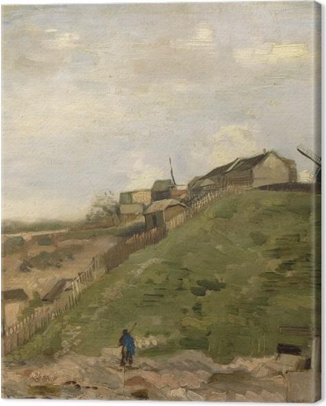 Leinwandbild Vincent van Gogh - Der Hügel von Montmartre mit Steinbruch - Reproductions