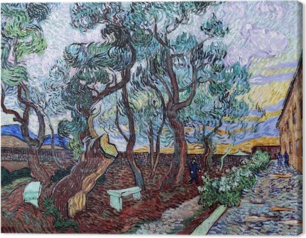 Leinwandbild Vincent van Gogh - Der Irrenhausgarten in Saint-Rémy - Reproductions