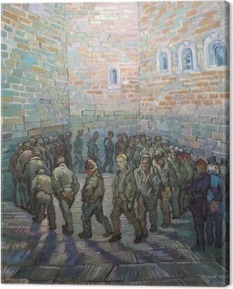Leinwandbild Vincent van Gogh - Der Rundgang der Gefangenen - Reproductions