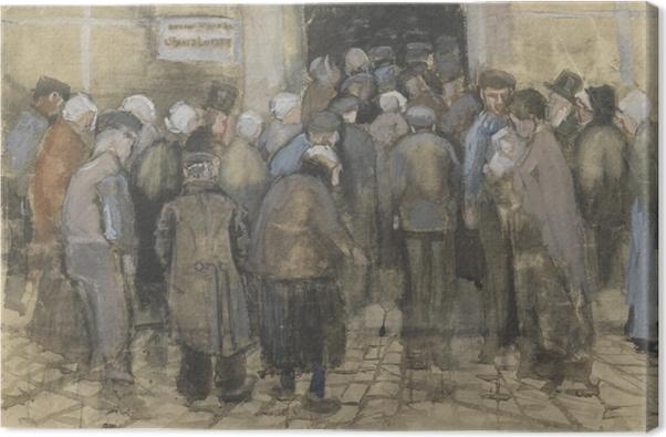 Leinwandbild Vincent van Gogh - Die Armen und das Geld - Reproductions