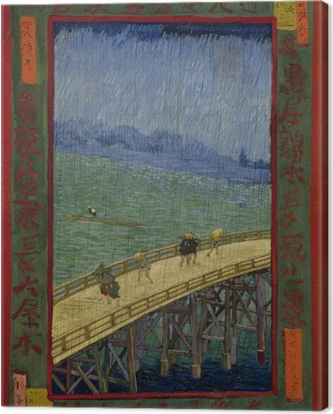 Leinwandbild Vincent van Gogh - Die Brücke im Regen - Reproductions
