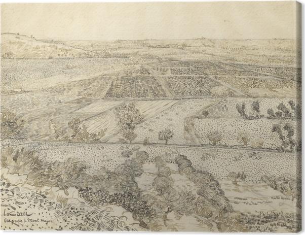 Leinwandbild Vincent van Gogh - Die Ebene La Crau bei Arles, von Montmajour aus gesehen - Reproductions