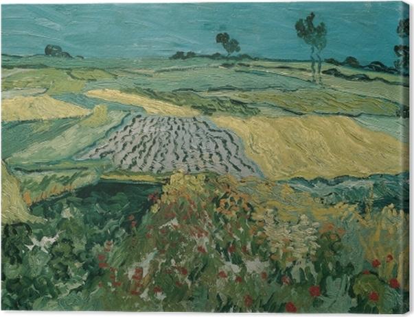 Leinwandbild Vincent van Gogh - Die Ebene von Auvers - Reproductions
