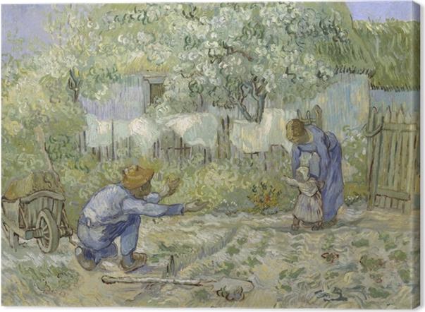Leinwandbild Vincent van Gogh - Die ersten Schritte - Reproductions